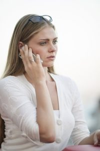 woman considering the adoption option in conversation