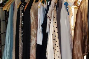 womens clothing on clothes rack