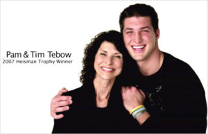 Tim Tebow and mom via She Knows