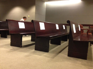 gosnell trial - empty media seats