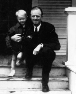 James Dobson Sr. with son Jimmie, James Dobson Jr.